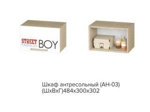 АН-03 Сенди, Шкаф антресольный STREET BOY