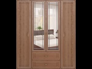 02 Шкаф для одежды 4-х дверный с ящиками «Лондон»