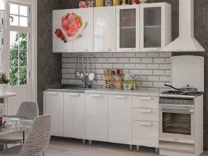 Кухня 2,0м Айс -крим (белый глянец)