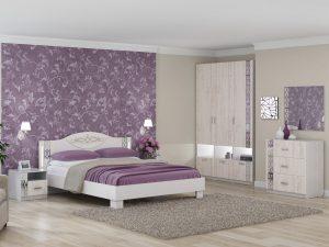 Спальня «Белла» Рамух белый. Комплект 2