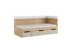 «Дублин Стоун» Модуль 1 Кровать 0,9, без матраса