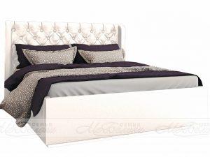 Кровать Франческа 1,6  с настилом ЛДСП, Белая
