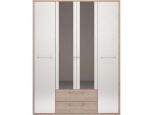 09 «Вива» Шкаф 4-х дверный с ящиком (с зеркалом)