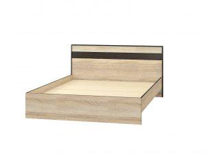 «Лирика» кровать ЛК-2 (1,4/1,6) корпус дуб сонома/венге